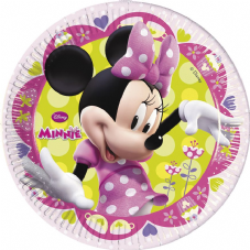 8 Minnie Mouse Paper Party Plates